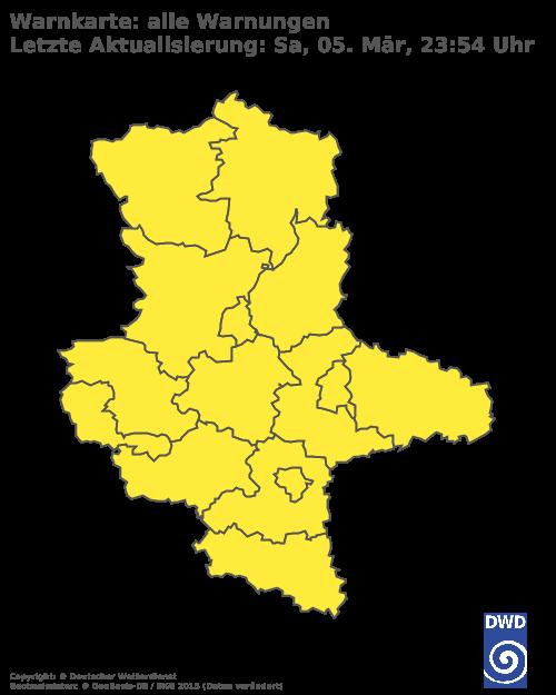 Unwetterkarte für Sachen-Anhalt