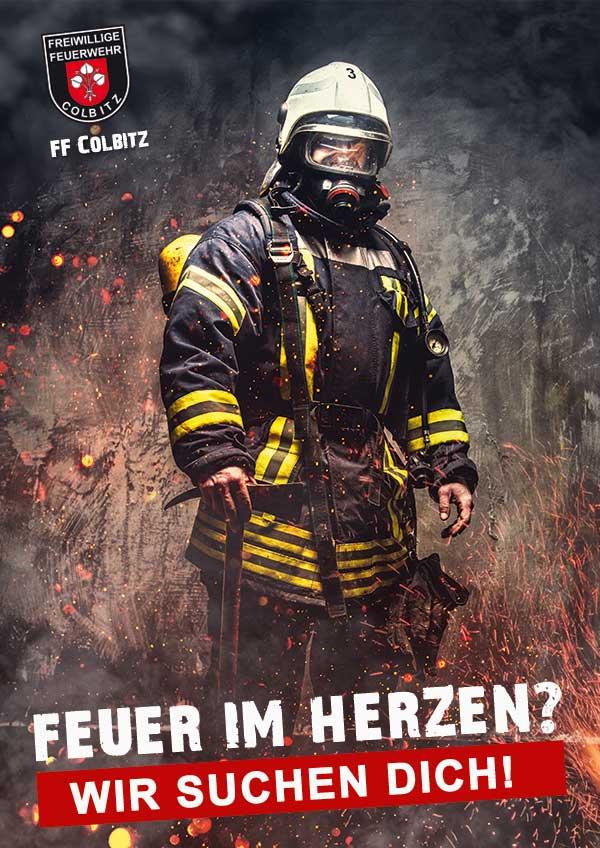 Bild eines Feuerwehrmannes