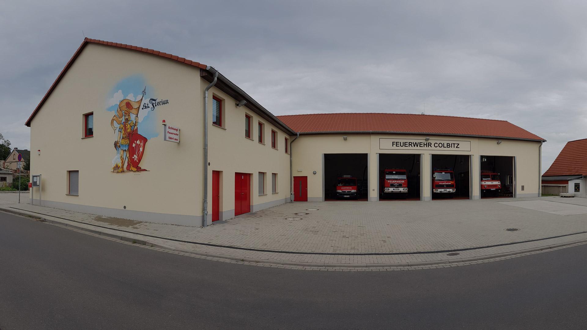 Bild vom Gerätehaus der Feuerwehr