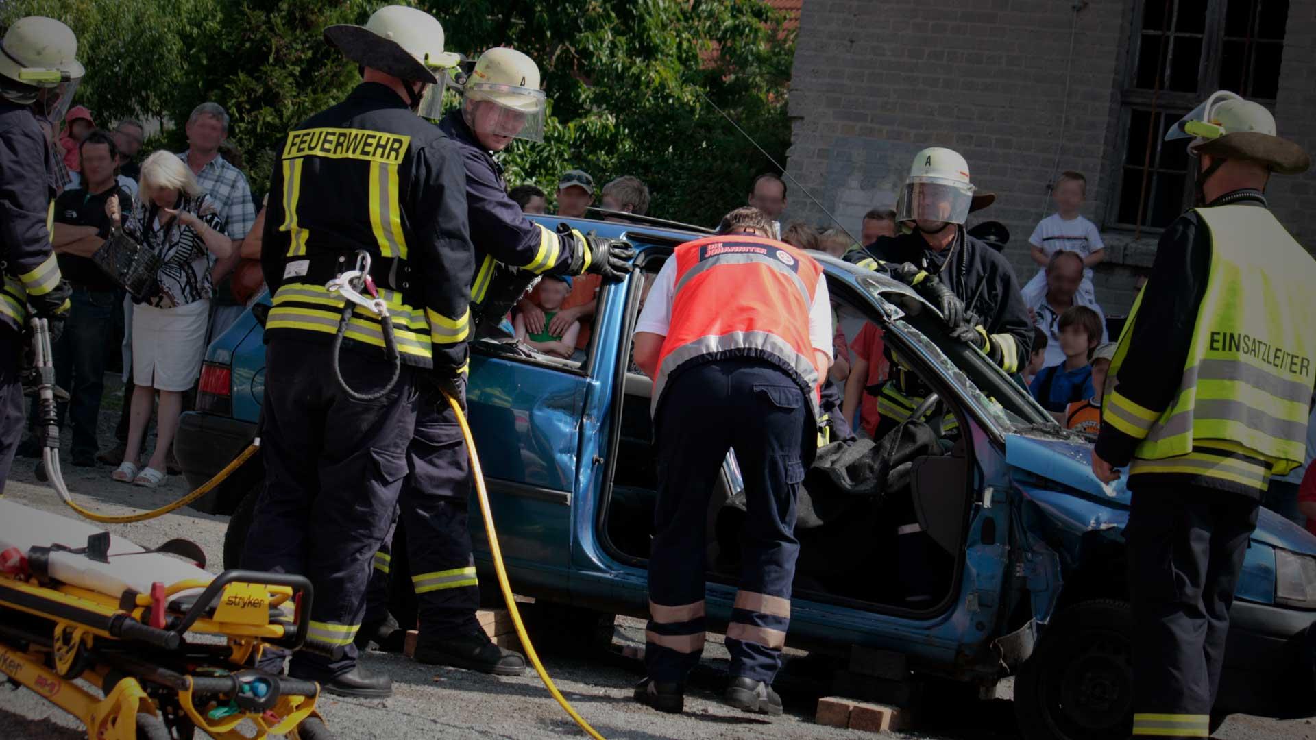 Bild eine Verkehrsunfalles