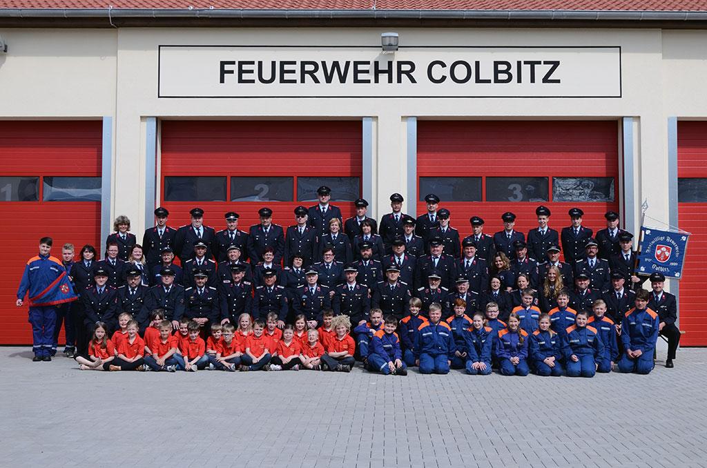 Gruppenbild der Feuerwehr Colbitz